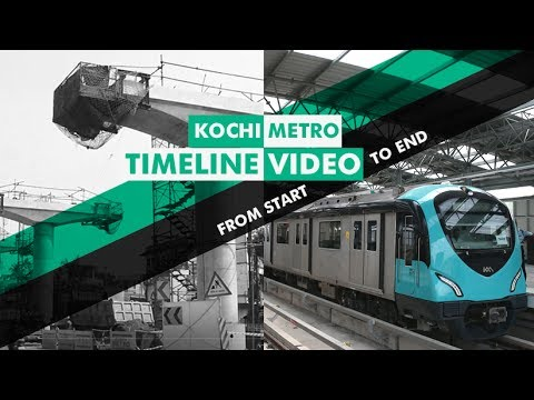 Kochi Metro timeline Video from start to end | Mathrubhumi.com