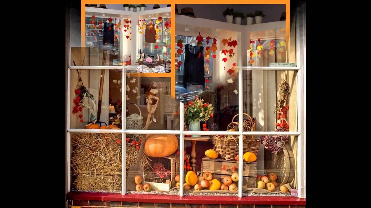 Fall window display ideas - YouTube