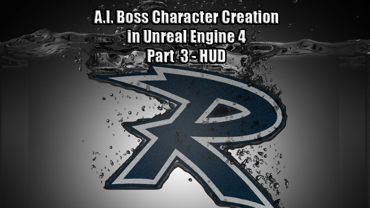AI Boss Character Creation Part 3 HUD with color changing health bar