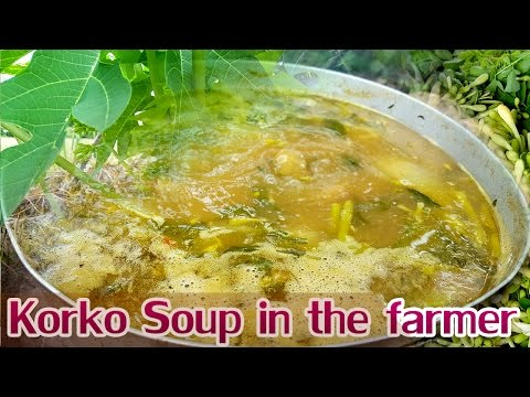 Village food factory, Asia Khmer cooking food recipes, Korko Soup