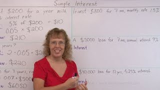 A beginner lesson on how to calculate simple interest