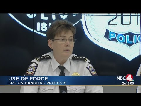 Columbus Police discuss use of force during protests
