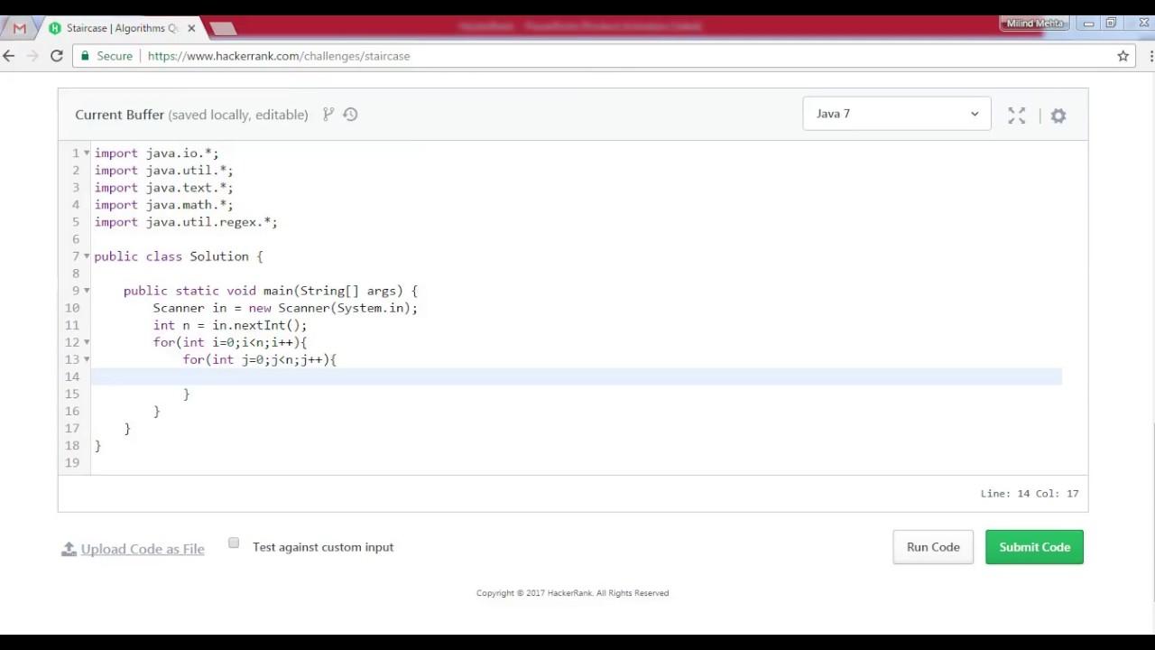 Staircase Hackerrank Algorithm Solution – Java version - Brighter API