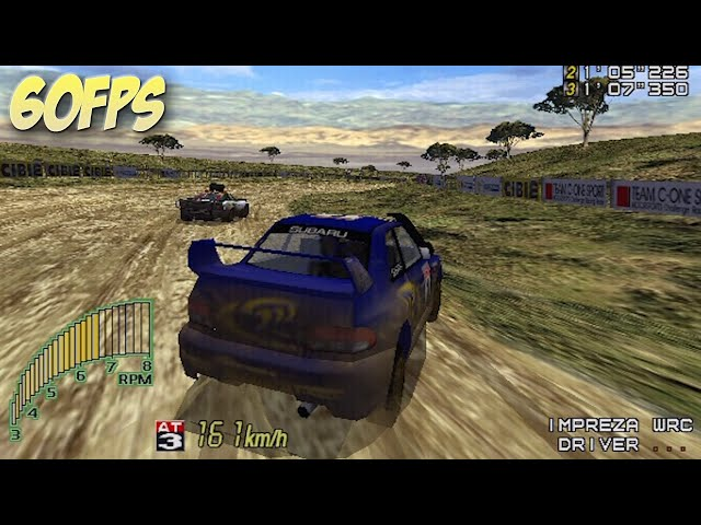 Sega Rally 2 Impreza WRC Gameplay (Dreamcast 60FPS)