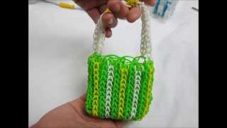 Lesson 14: Making of St. Patrick Mini Handbag with the Rainbow Loom® kit