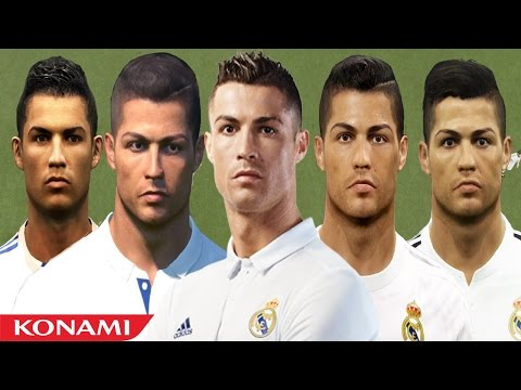 Cristiano RONALDO from PES 3 to PES 2017 (vs Real Face Comparison)