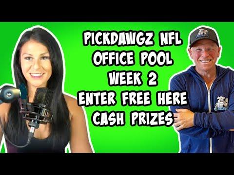 FREE NFL Office Pool Contest Week 2 - CASH PRIZES - PickDawgz