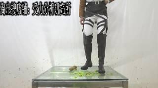 Chinese Girl Wear Cosplay Boots Crush Mikasa·Ackerman