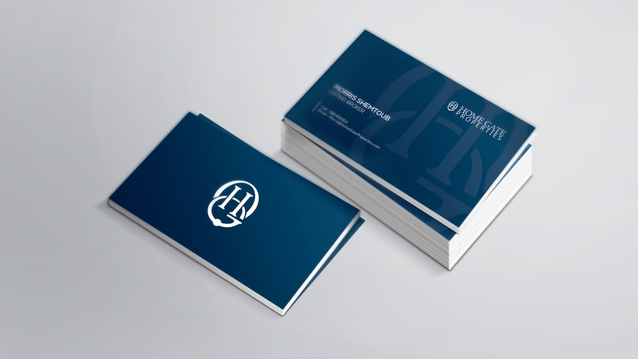 Professional Business Card Design Tutorial in shop