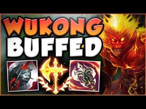 WHAT IS RIOT THINKING?? CONQUEROR WUKONG + BUFFS = LETHAL! WUKONG TOP GAMEPLAY! - League of Legends