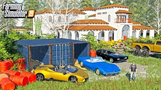 BILLIONAIRE'S ABANDONED MANSION! (FOUND LAMBO & CORVETTE IN SHIPPING CONTAINERS!) | ROLEPLAY
