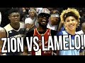 LaMelo Ball VS Zion Williamson in Front Of Damian Lillard, Lonzo Ball, OSN & RIDICULOUS CROWD!