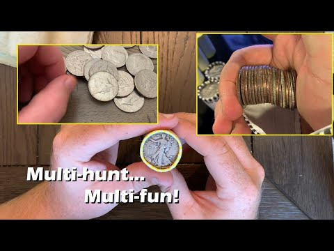 Multi-hunt... Multi-fun!  Compilation Coin Roll Hunting Silver Half Dollars
