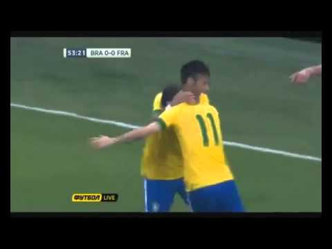 Oscar Great GOAL vs FRANCE - Brazil vs France 3-0 - INTERNATIONAL FRIENDLY 2013