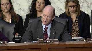 Senator Coons speaks at the Judiciary Committee, May 8 2017