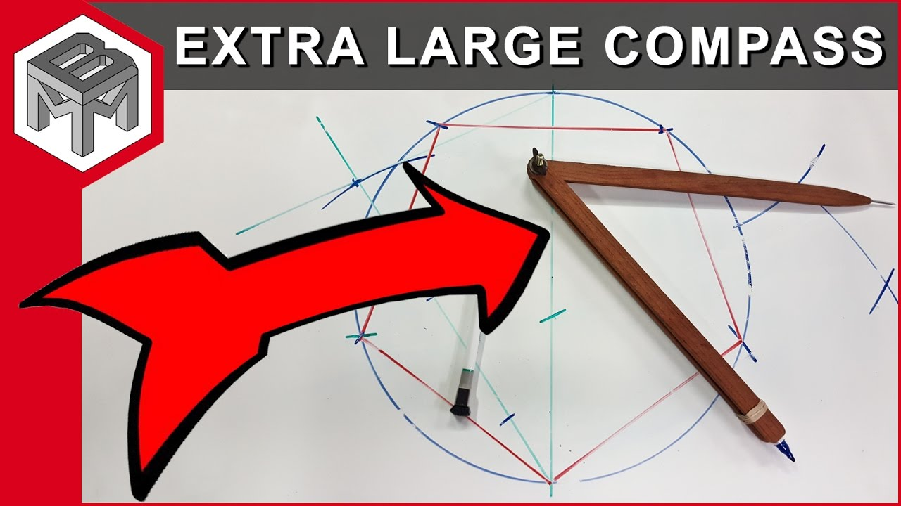 how to make an extra large compass - quick and easy