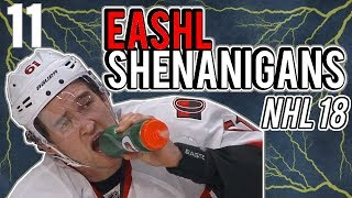 *LAUGHING INTENSIFIES* EASHL Shenanigans Episode 11 | NHL 18 Funny Moments