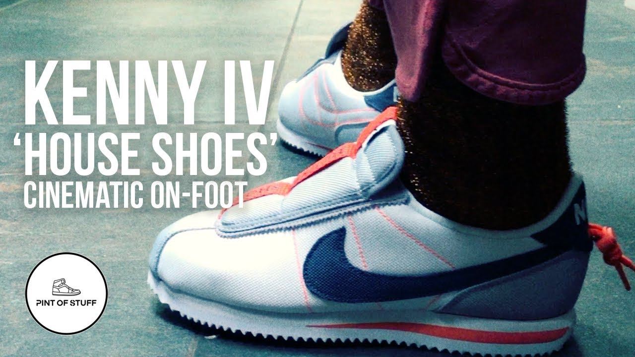 6083ba0dc6ac6f Nike Cortez Kenny IV  House Shoes  Cinematic On-foot Review - YouTube