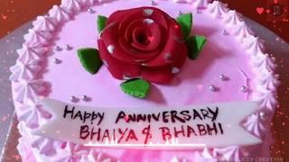 Happy Marriage Anniversary Bhaiya And Bhabhi Wedding Anniversary Quotes For Brother Whatsapp Status And Wishes Happy anniversary bhaiya bhabhi printed white square shaped. happy marriage anniversary bhaiya and