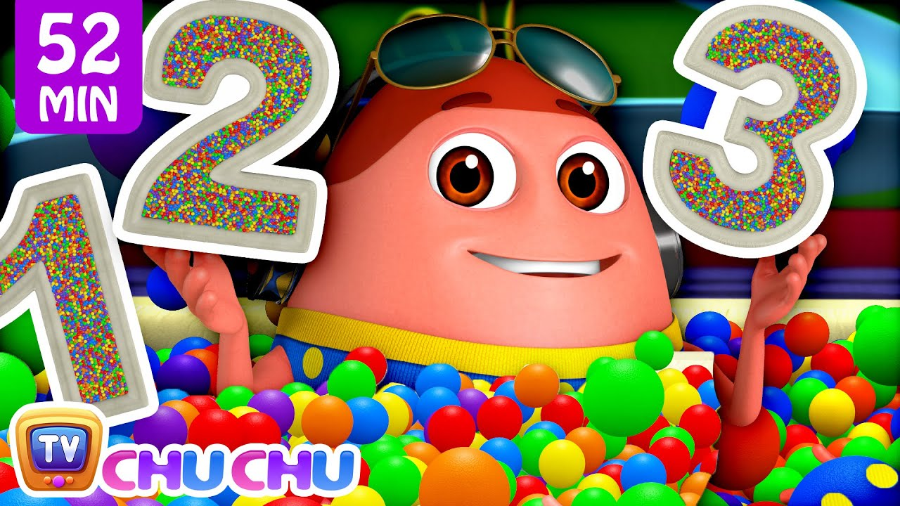 Learn Numbers 1 - 10 with Surprise Eggs Ball Pit Show + More Funzone Songs for Kids - ChuChu TV