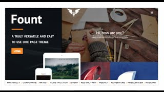 Fount - One & Multipage Hybrid HTML Template by TK-Themes | ThemeForest Download