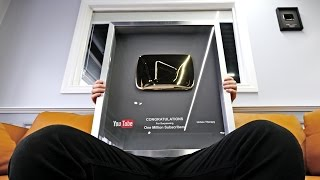 Gold Play Button Unboxing!