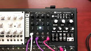 Pseudo-stereo demo of the EarthQuaker Devices Afterneath Eurorack module proto (headphones advised)