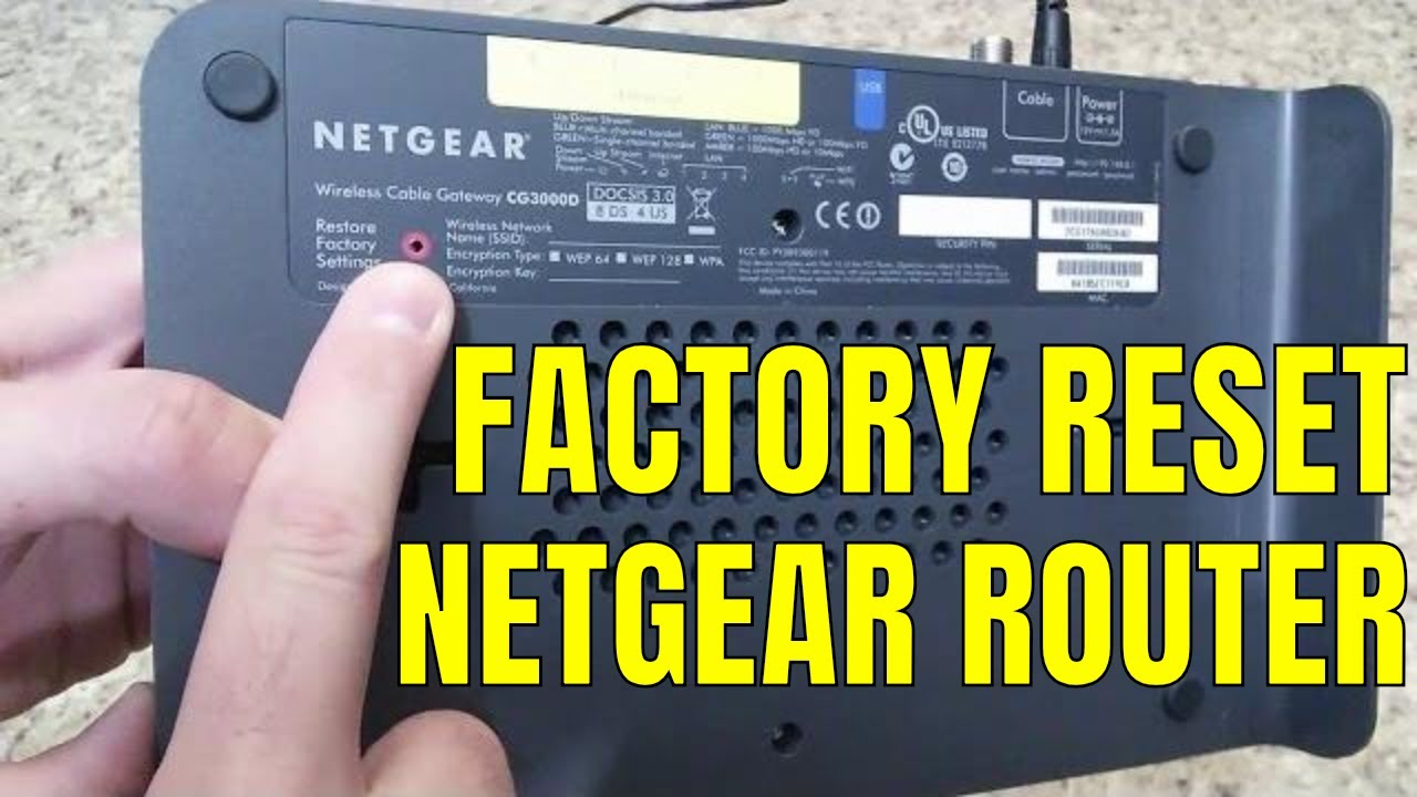 Reset Restore Netgear Wireless Router To Factory Default
