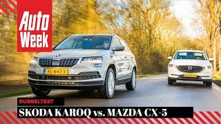 Skoda Karoq vs. Mazda CX-5 - AutoWeek Dubbeltest - English subtitles