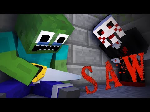 Monster School : THE SAW - Minecraft Animation thumbnail
