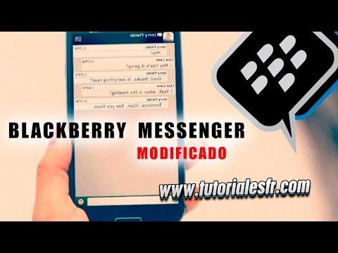 DESCARGA INSTALA EL BLACKBERRY  MESSENGER MODIFICADO