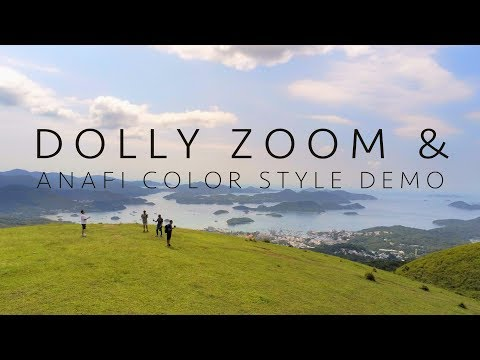 Parrot Anafi, Dolly Zoom & Color Style Demo (by Aerial Era) [4K]