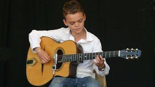 Swan Berger (12 ans) joue Django Reinhardt - Blues en mineur, Rythme Futur, Djangologie