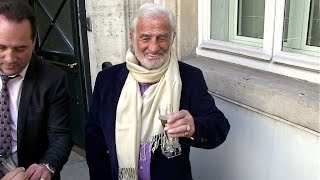 EXCLUSIVE - Jean Paul Belmondo celebrates his 82nd Birthday with fans and Champagne