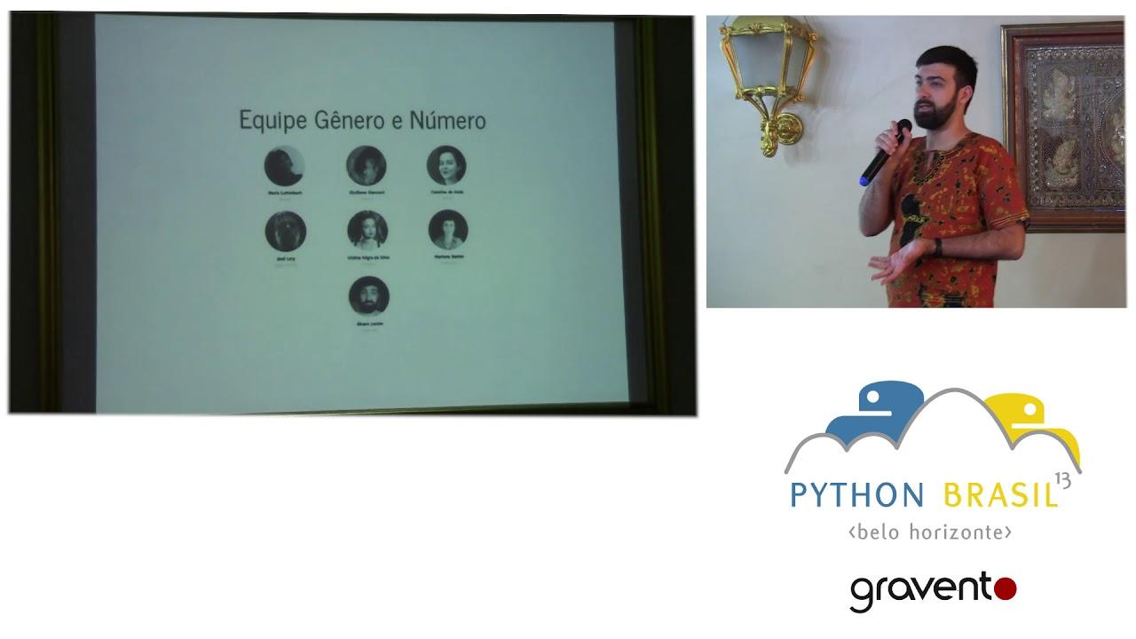 Image from Gênero e Número: Python ajudando nas questões de gênero brasileiras - Álvaro Justen