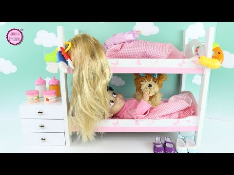 Muñecas Bebés Disney BOO y RAPUNZEL hermanitas en su Rutina de mañana