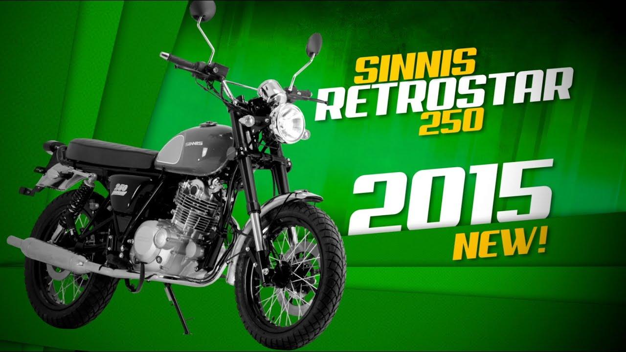 sinnis retrostar 250 motorcycle promotion video youtube. Black Bedroom Furniture Sets. Home Design Ideas