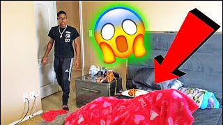 CAUGHT SLEEPING WITH ANOTHER MAN PRANK ON BOYFRIEND!!!!