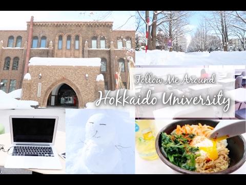 日本留學的每一天-帶你們一起到雪國的北海道大學上課!Follow Me Around Hokkaido University-C'est Agnes