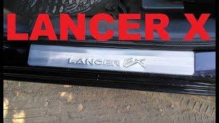 Хромированные накладки на пороги для Mitsubishi Lancer X c AliExpress . распаковка Unboxing