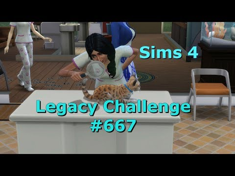 Let´s Play Die Sims 4 ♥ [LEGACY CHALLENGE] #667   Tierklinik Und Hausaufgaben