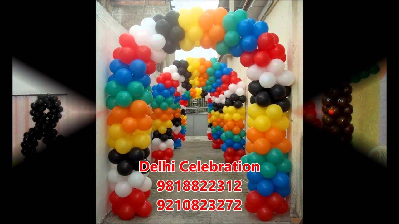 Birthday Party Decorations In Delhi Balloon Decoration Noida Youtube