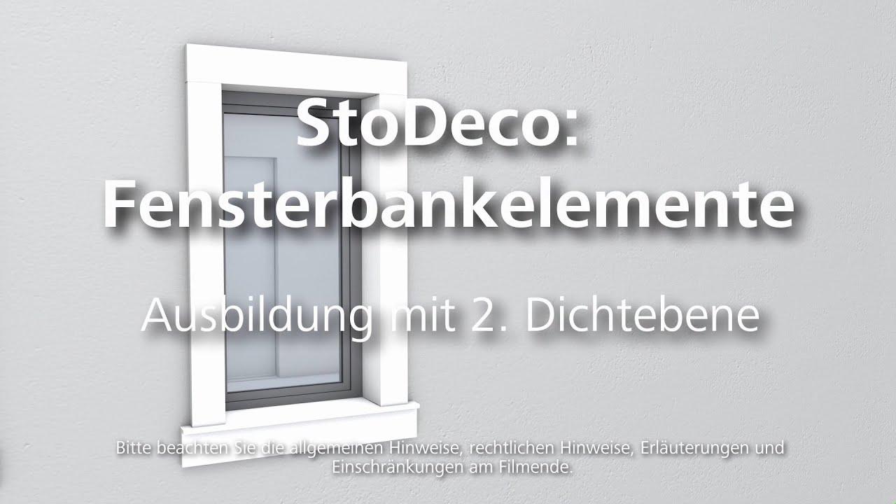 Plastische Fassadenelemente – Fensterbankelement – Ausbildung mit 2 ...
