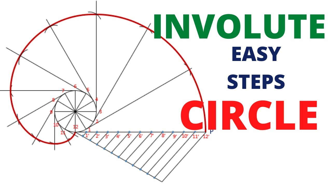 Download HOW TO DRAW THE INVOLUTE OF CIRCLE IN ENGINEERING DRAWING