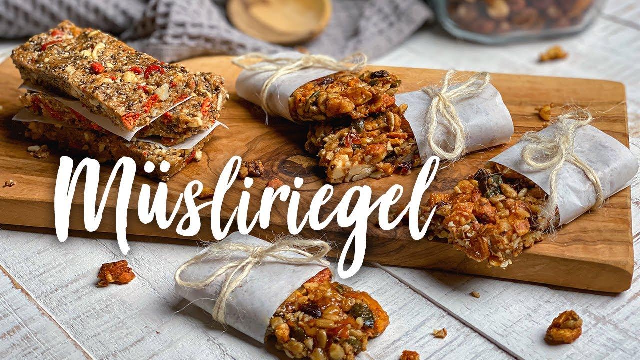 Snacks für unterwegs: Selbst gemachte Müsliriegel - Ideal für die Schule, Uni oder die Arbeit!