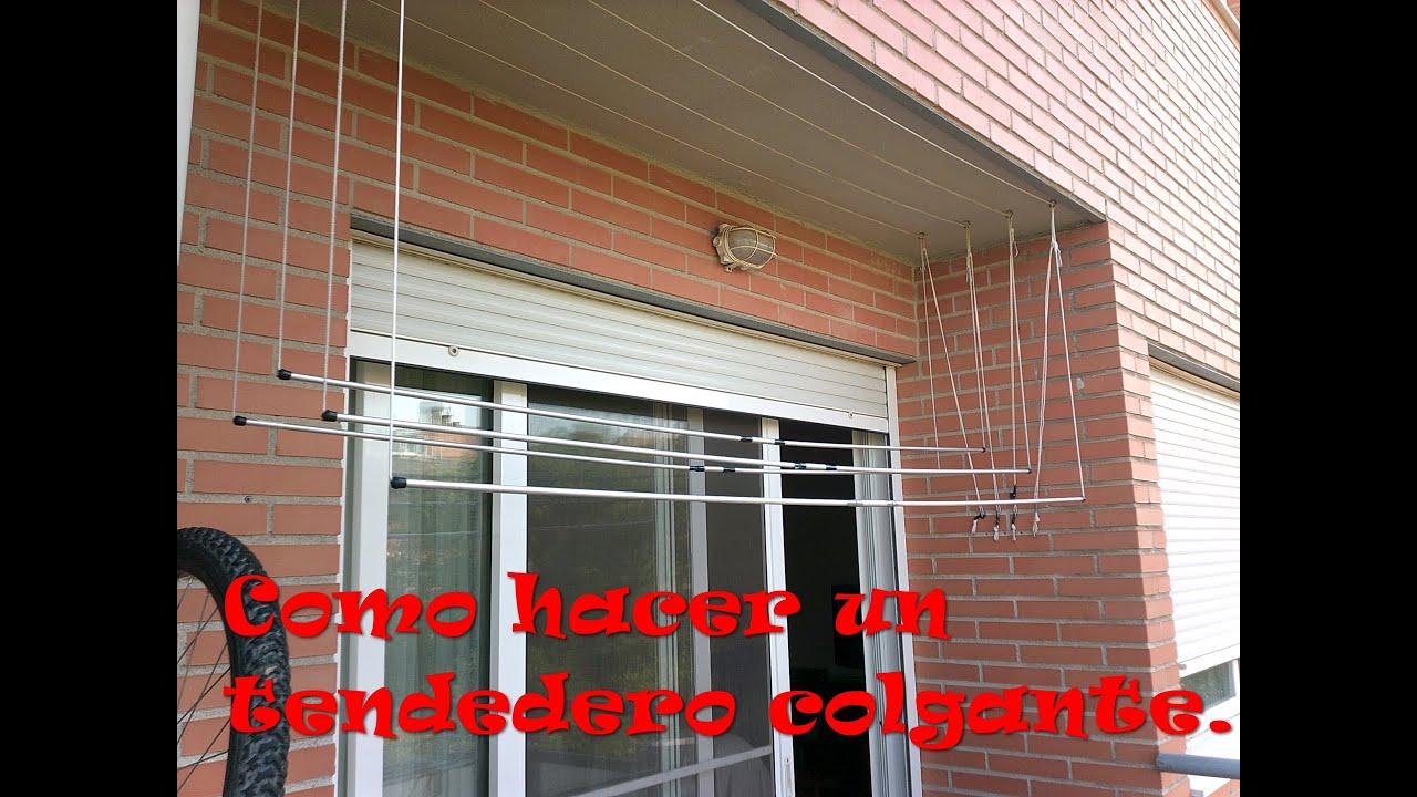 Hacer un tendedero que cuelgue del techo make a - Tendederos de balcon ...