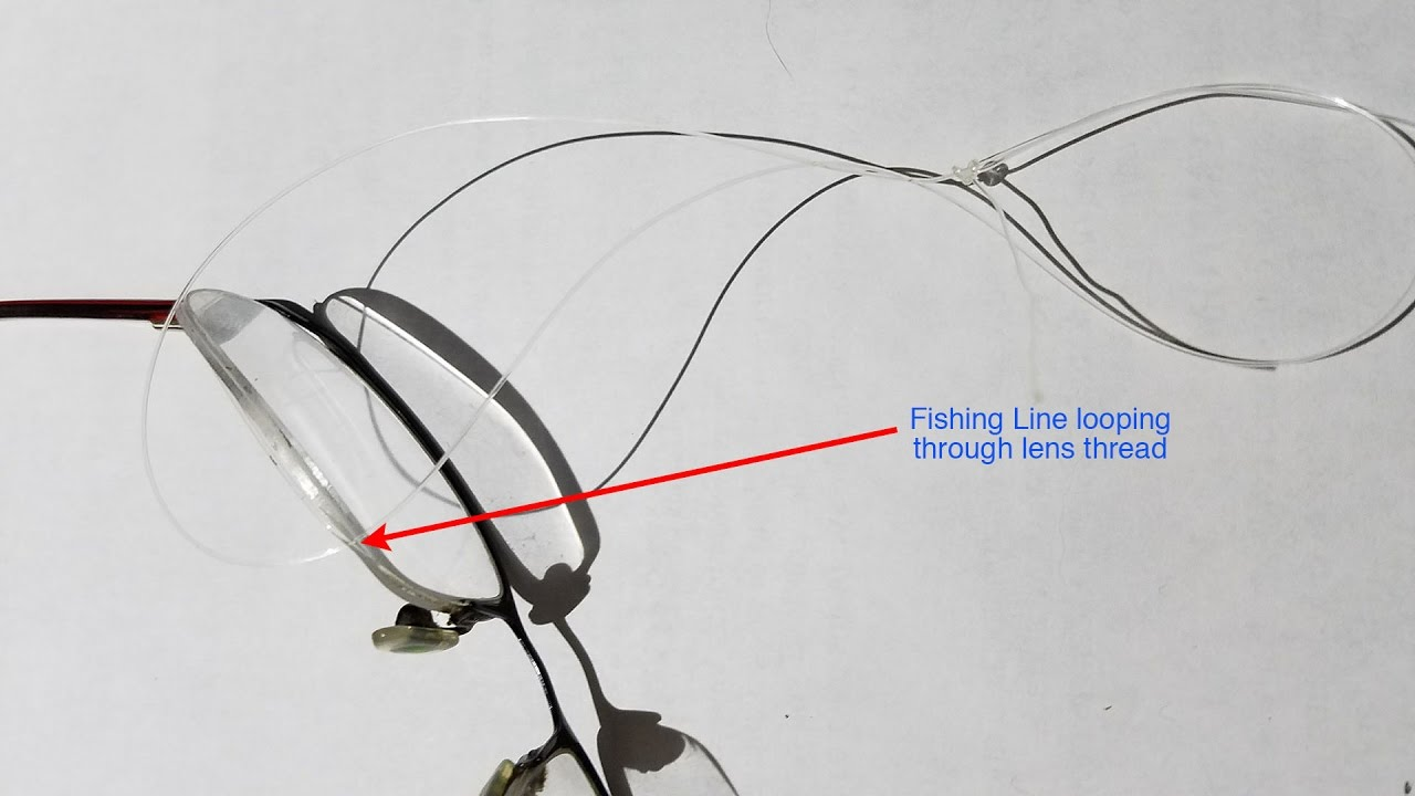 DIY Fix to Replace Lens in Rimless Glasses - YouTube