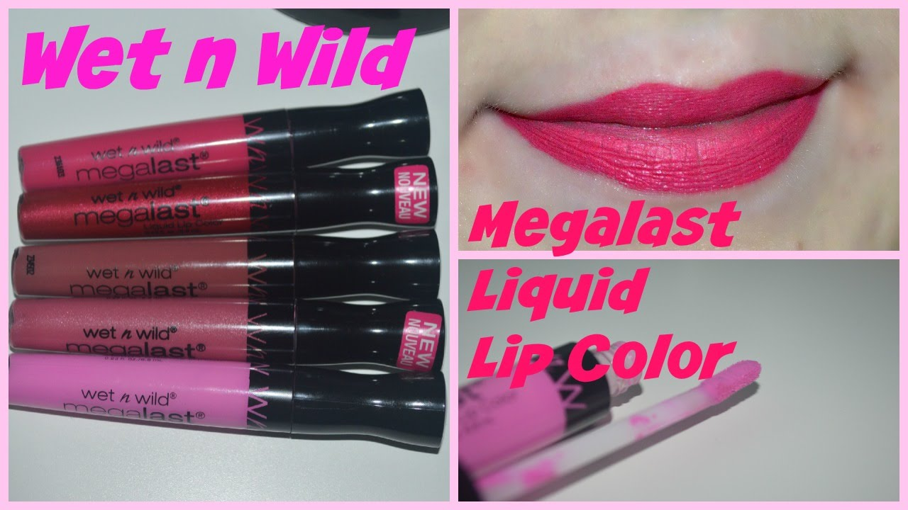 Wet N Wild Megalast Liquid Lip Color Review+Swatches - YouTube