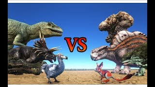 THE ISLAND vs SCORCHED EARTH Creatures || ARK: Survival Evolved