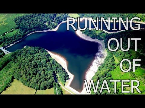 Burrator Reservoir Drone 2018 - Lowest Water Level In 40 Years